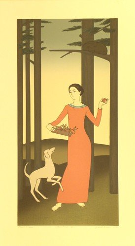 3322: Will Barnet Lithograph Pencil Signed & Numbered