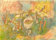3539 Roberto Matta Lithograph Pencil Signed  Numbered