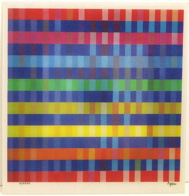 4003: Yaacov Agam Agamograph Signed & Numbered