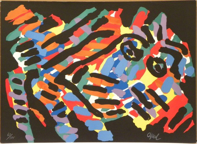 4013: Karel Appel Lithograph Pencil Signed & Numbered