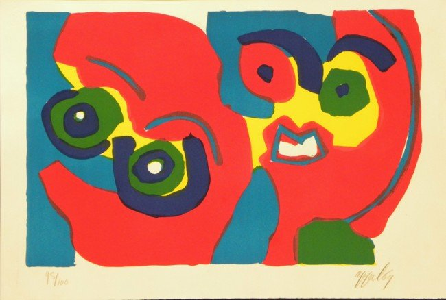 4014: Karel Appel Lithograph Pencil Signed & Numbered