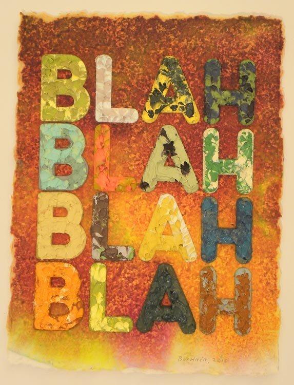 4017: Mel Bochner Blah, Blah, Blah Original Paint Monop