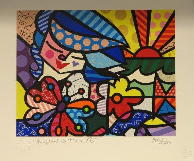 4022: Romero Britto Serigraph Pencil Signed & Numbered