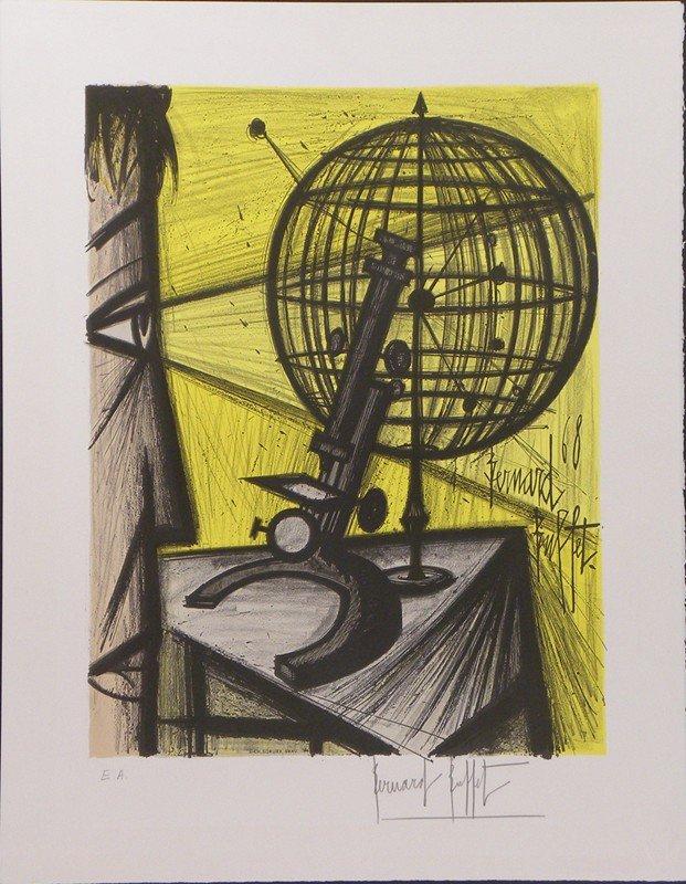 4023: Bernard Buffet Lithograph Pencil Signed & Numbere