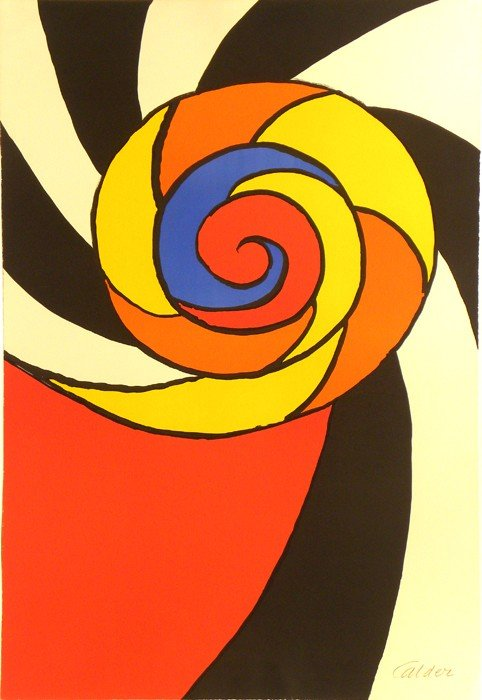 4025: Alexander Calder Lithograph Pencil Signed & Numbe
