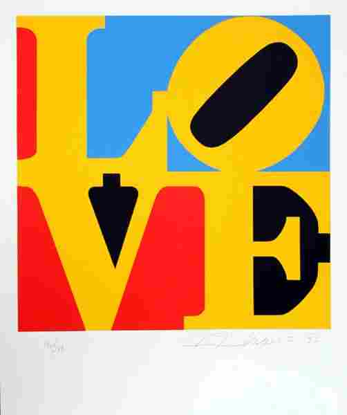 Robert Indiana LOVE Pencil Signed & Numbered