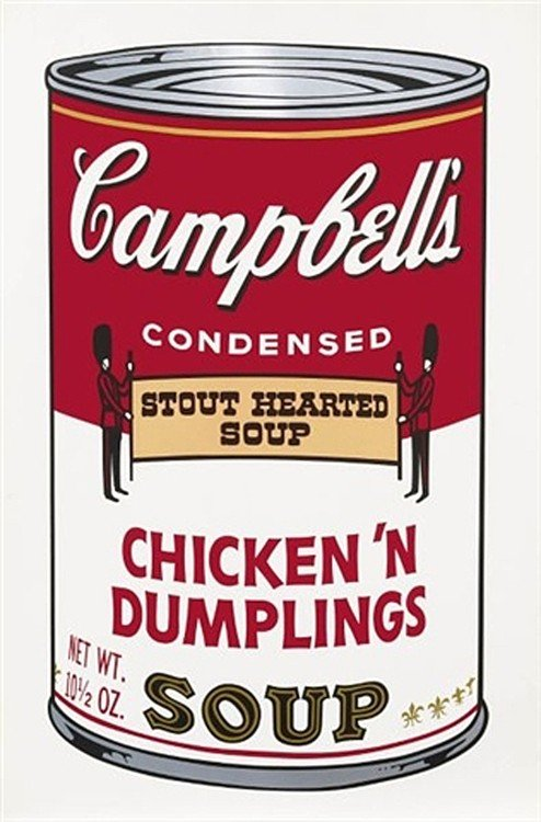 4285: Andy Warhol Campbell Soup Pencil Signed & Numbere