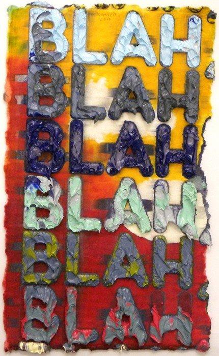 5020:  Mel Bochner Blah, Blah, Blah Painted Monoprint
