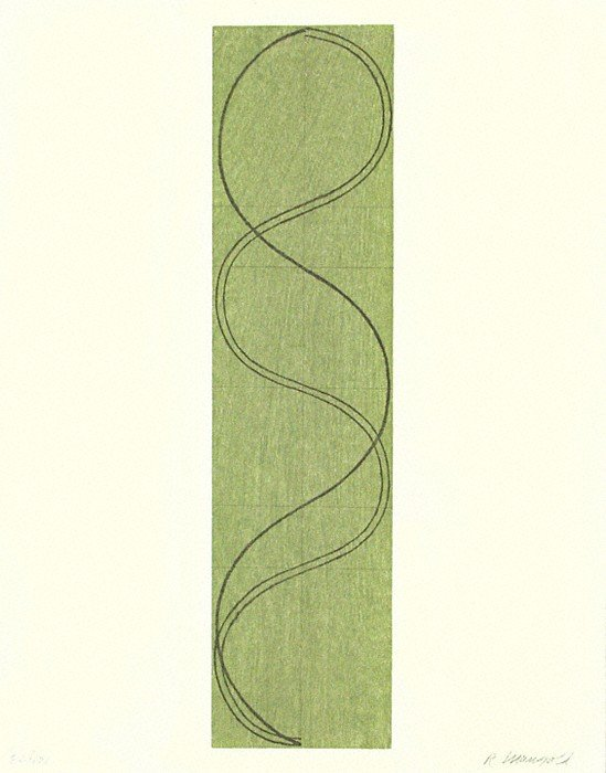 5167: Robert Mangold Woodcut Signed & Numbered