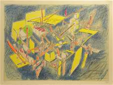 5173 Roberto Matta Lithograph Signed  Numbered