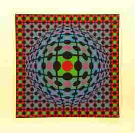 5279: Victor Vasarely Screenprint Signed & Numbered