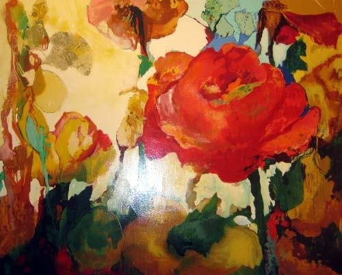 110: Patricia Nix Flowers Serigraph on Canvas Trial Pro