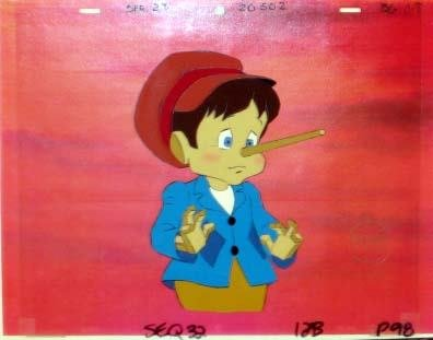 123: Original Hand painted Production Cel & Drawing of