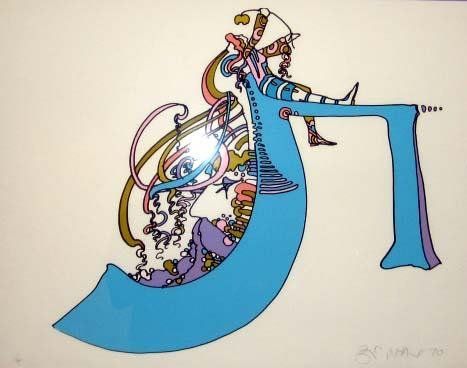 """125: Peter Max Early 1970 Signed """"Zen Max""""& Numbered"""