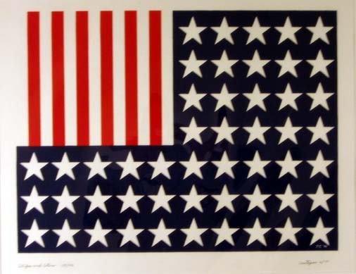 294: J. Castagno American Flag Signed & Numbered