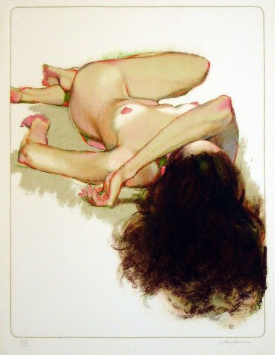 626: Jim Jonson Nude Pencil Signed & Numbered