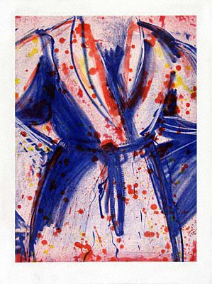 773A: Jim Dine Robe Pencil Signed & Numbered