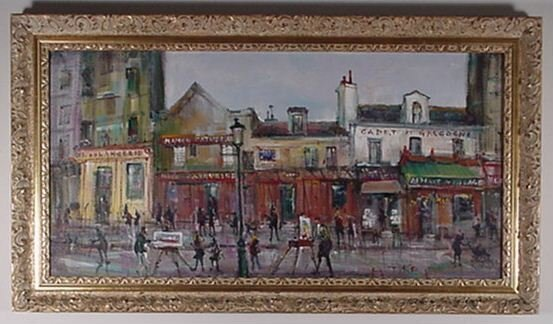 7: Gaston Tyko: (French 1918 -) Oil on Canvas