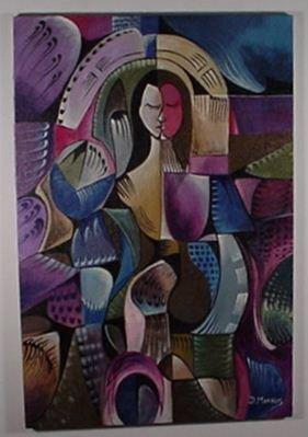 8: Daniel Morales: (Cuban) Oil on Canvas