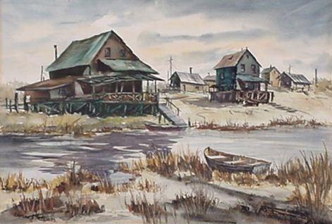 Elvern J. Anderson: (American) Watercolor
