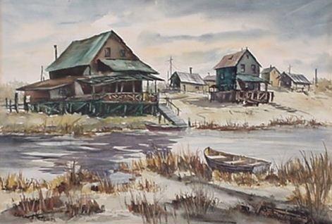 22: Elvern J. Anderson: (American) Watercolor