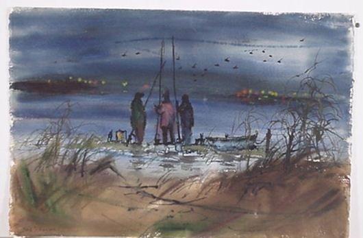 23: Jane Schumacher: (American) Watercolor