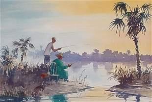 James W. Eaton: (American) Watercolor