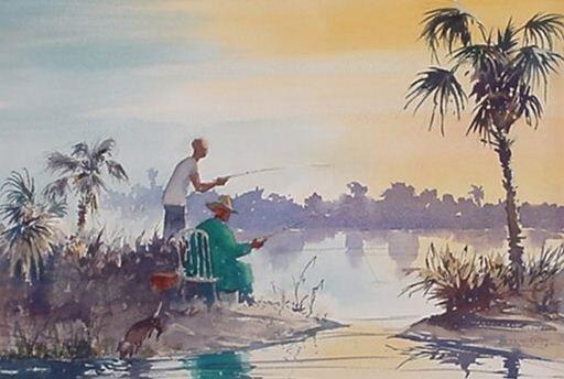 24: James W. Eaton: (American) Watercolor