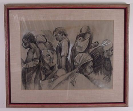 1002: Unknown Artist: Charcoal on paper