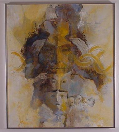 1014: Glyn Jones: (Israel) Acrylic on Canvas
