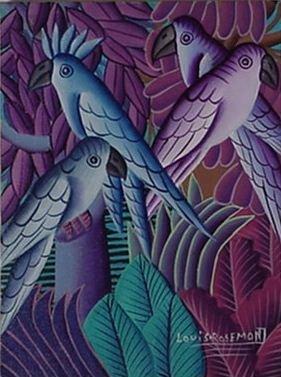 "1021: Louis Rosemond Hatian Animalist ""Parrot"
