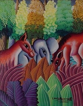 "1023: Louis Rosemond Hatian Animalist ""Jungle"