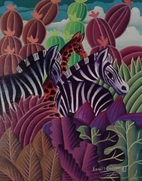 "1024: Louis Rosemond Hatian Animalist ""Jungle"