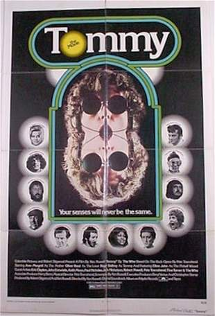 """The Who """"Tommy"""" Original Movie Poster"""