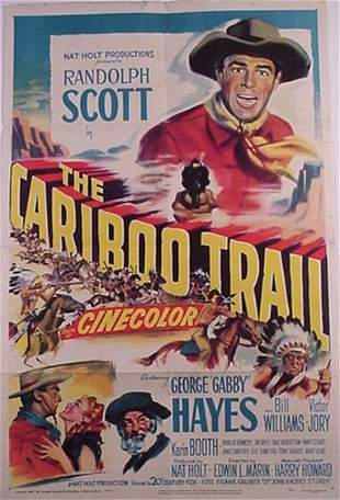 Randolph Scott Gabby Hayes 1949 Movie P
