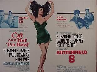 Elizabeth Taylor Paul Newman Movie Post