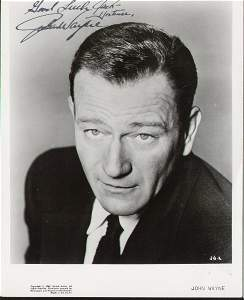 2134: John Wayne Signed 8 X 10 Photo