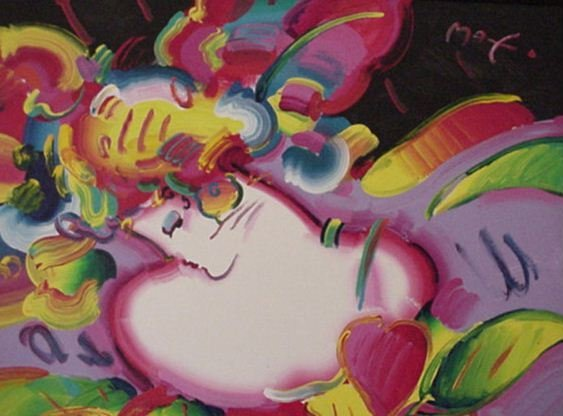 2207: Peter Max Acrylic on Canvas