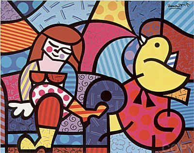 2221: Romero Britto Pencil Signed & Numbered
