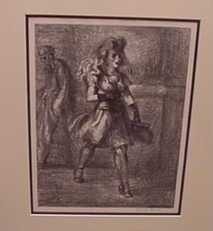 2338: Reginald Marsh Original Lithograph