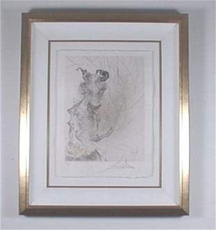 """Dali Engraving """"Faust"""" Minotaur Signed & Numbered"""