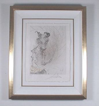 """2201: Dali Engraving """"Faust"""" Minotaur Signed & Numbered"""