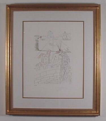 """2202: Dali """"Famous Lovers"""" Helen of Troy Signed & Numbe"""