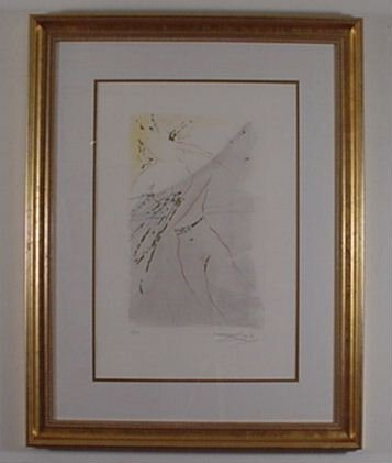 2204: Dali Etching Song of Songs Signed & Numbered