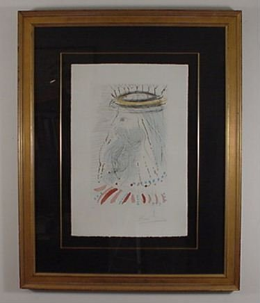 2205: Dali Etching Song of Songs Signed & Numbered