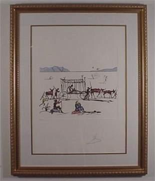 Dali Etching Don Quixote Judgement Signed & Numbe