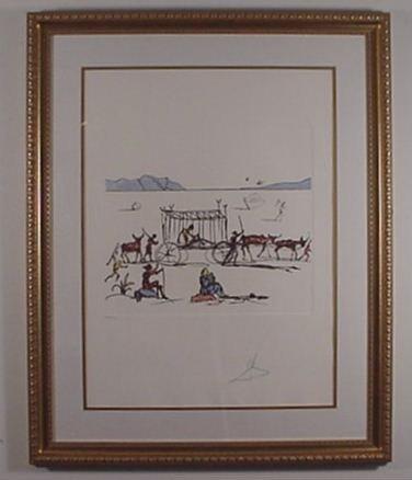 2206: Dali Etching Don Quixote Judgement Signed & Numbe