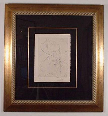 2214: Dali Rare Engraving Woman w/ Crutch Signed & Numb