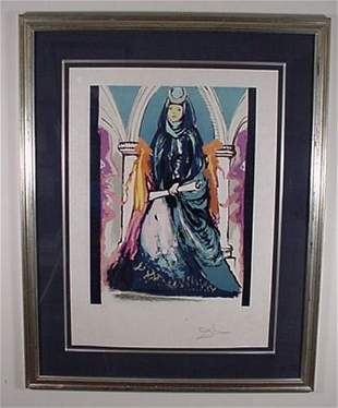 """Dali """"Lady Blue"""" Hand Signed & Numbered"""
