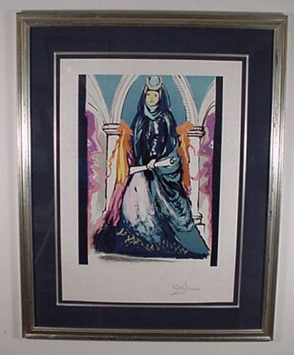 """2217: Dali """"Lady Blue"""" Hand Signed & Numbered"""